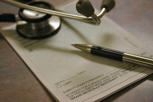 Prescription paper with stethoscope concept of Nashville prescription fraud defense lawyer